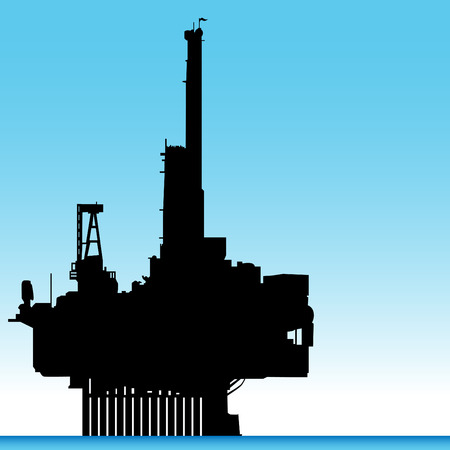 oil and gas industry: An image of an oil rig. Illustration