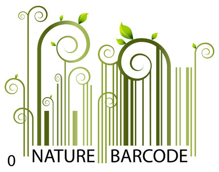 自然バーコード  イラスト・ベクター素材