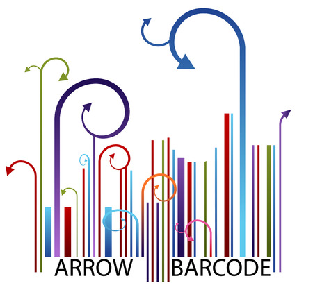 curving lines: Arrow Barcode