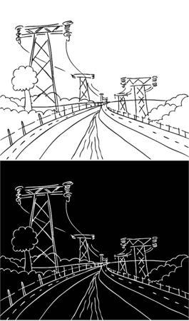 powerlines: Powerlines Dam Landscape
