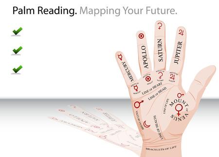 Palm Reading Slide Vector