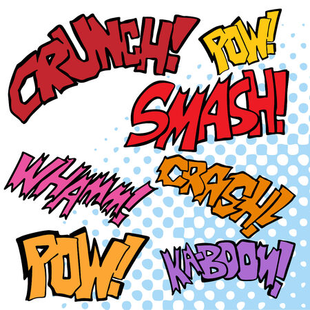 Comic Sound Effects Stock Vector - 7559579