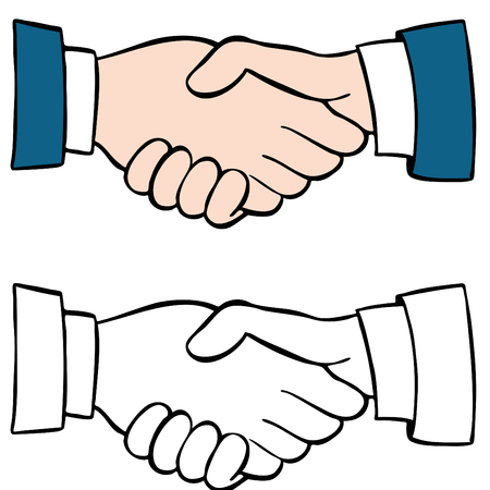 An image of a handshake set. Stock Vector - 7579634