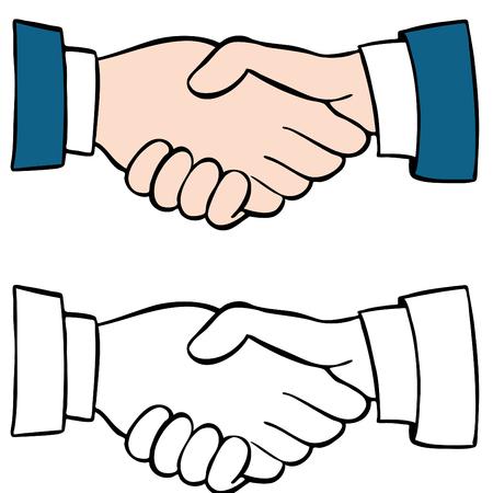hand cartoon: An image of a handshake set.