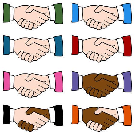 An image of a handshake set.