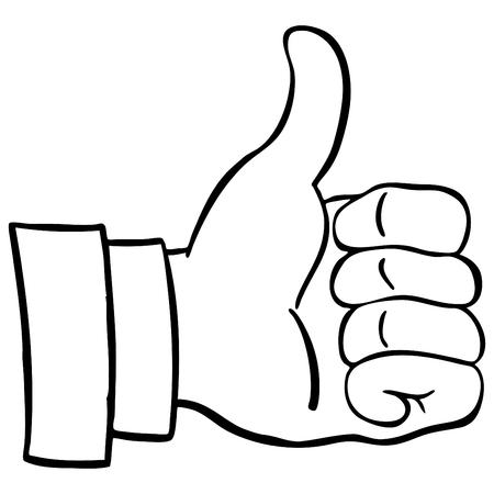 Een afbeelding van een duim omhoog. Stock Illustratie