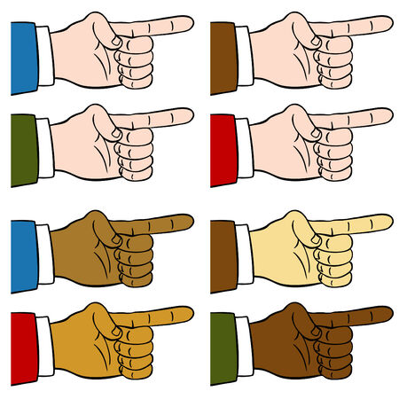 An image of a finger pointing.