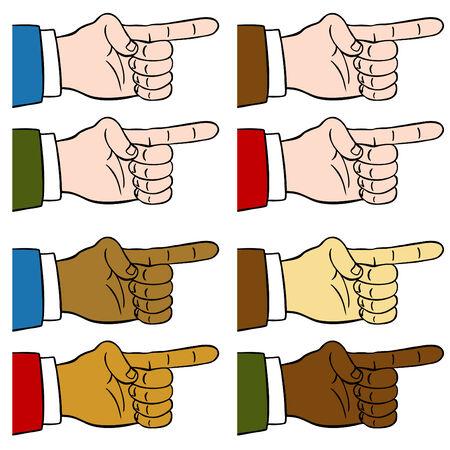 Una imagen de un dedo apuntando.  Foto de archivo - 7579645