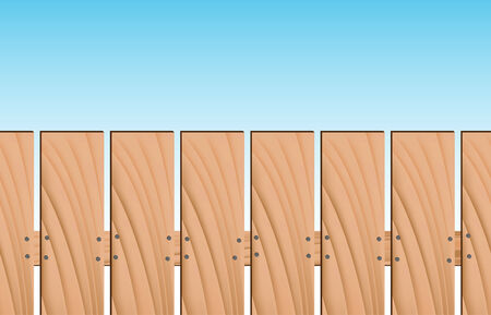 An image of a repeating wooden fence. Vector