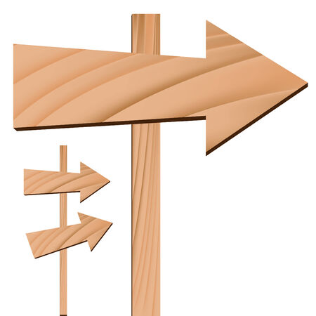 An image of a wooden arrow sign.