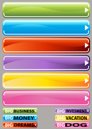 An image of a variety button set. Vector