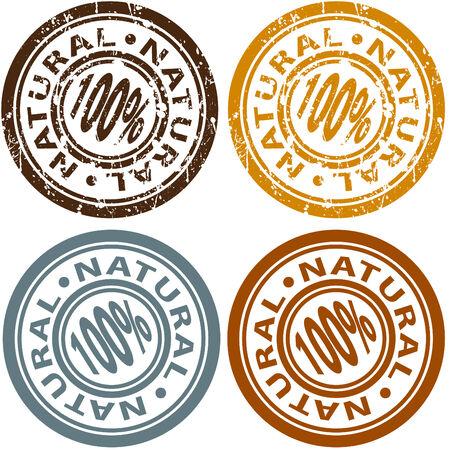 An image of a 100% natural stamp set.