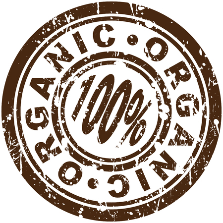 An image of a 100% organic stamp.