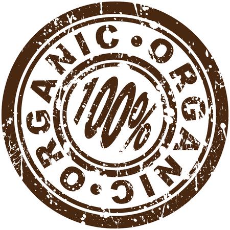 org�nico: Una imagen de un sello org�nicos de 100%.