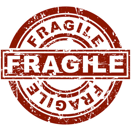 An image of a fragile stamp. Vector