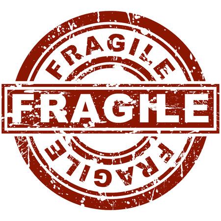 Una imagen de un sello frágil.