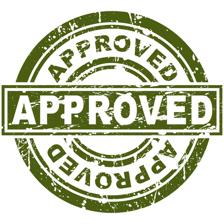 approved stamp: Una imagen de un sello homologado.