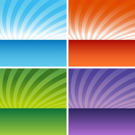 Een afbeelding van een kunstzinnige zons opgang / zons ondergang achtergrond. Stockfoto - 7614201