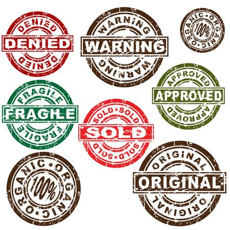 originales: Una imagen de un conjunto de sello.