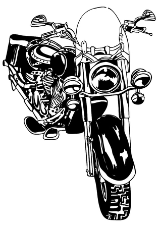An image of a motorcycle. Illustration