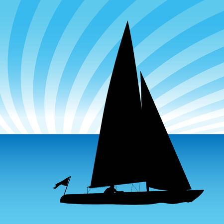 An image of a sailboat. Stock Vector - 7614208