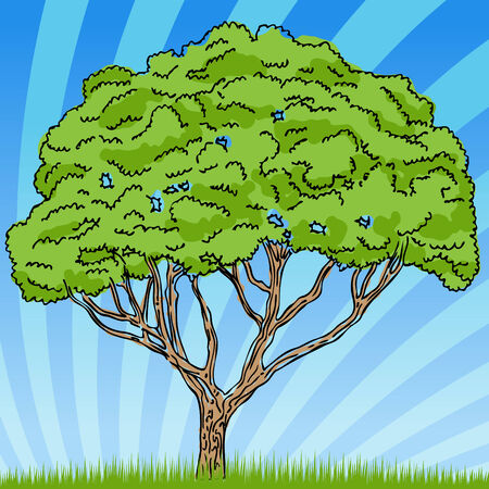 An image of a tree with background. Stock Vector - 7614222