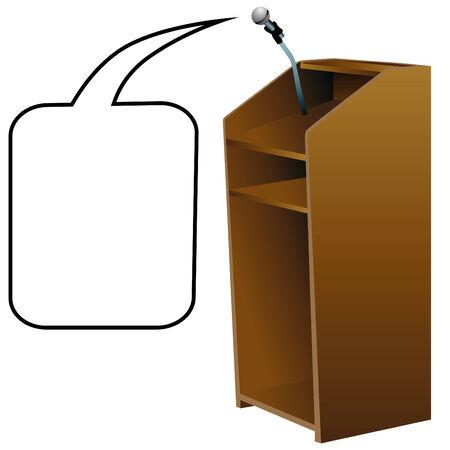 dais: An image of a podium. Illustration