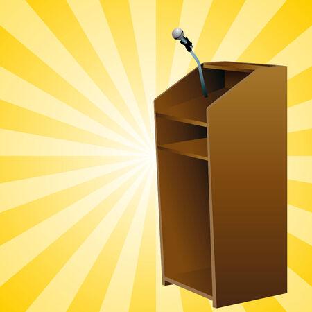 An image of a podium. Ilustração
