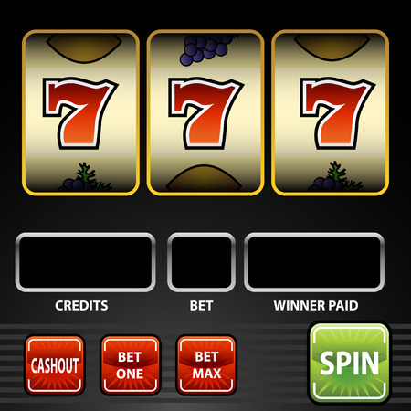 An image of a lucky seven slot machine.