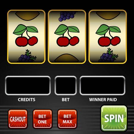 Een afbeelding van een gok automaat.  Stock Illustratie