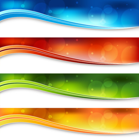A banner set of a blurry light background. Stock Vector - 7684803