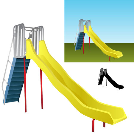 An image of a realistic playground slide.