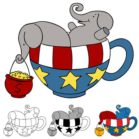 gop: An image representing donations to the tea party.