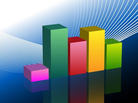 An image of a bar graph business chart slide.
