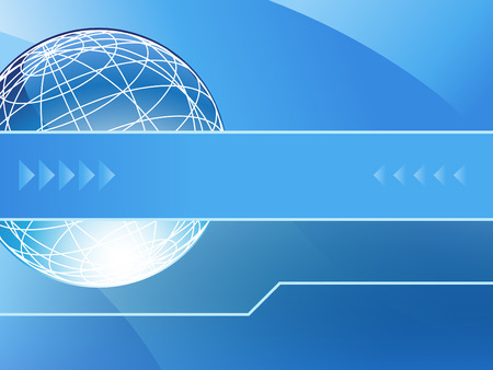 An image of a presentation background - globe with arrows. Vector