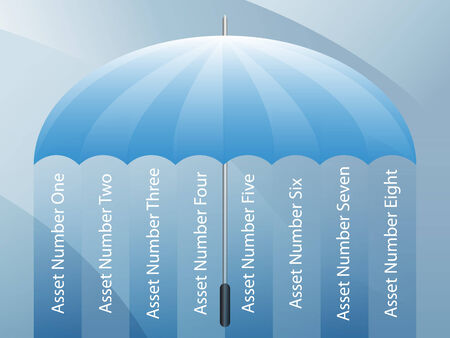 An image of a presentation background - business umbrella. Stock fotó - 7852488