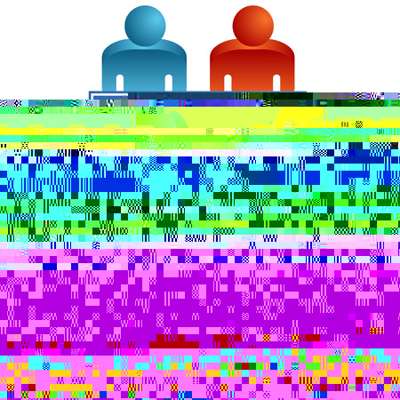 interracial: Una imagen de una tabla de trabajo en equipo.