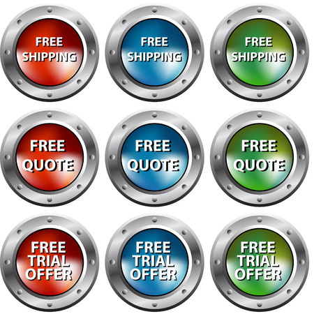 free trial: An image of free chrome rivet buttons.