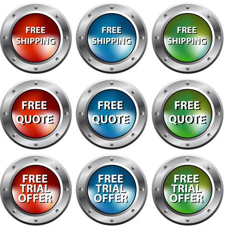Een afbeelding van gratis chrome klinknagel knoppen.