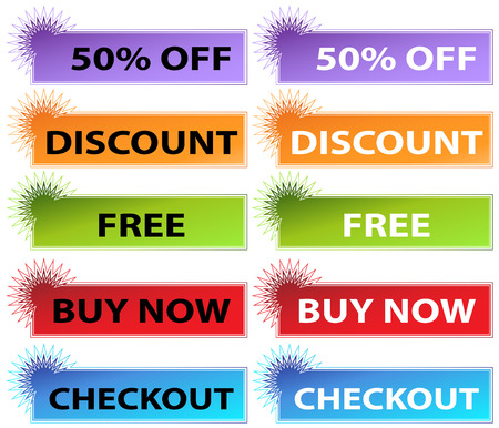discount banner: An image of starburst web banners.