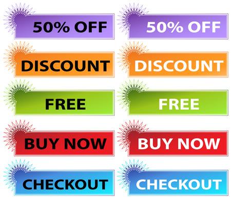 starburst 웹 배너의 이미지입니다. 일러스트