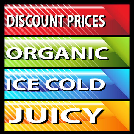 An image of retail web banners. Vector