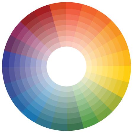 Una imagen de una rueda de color. Ilustración de vector