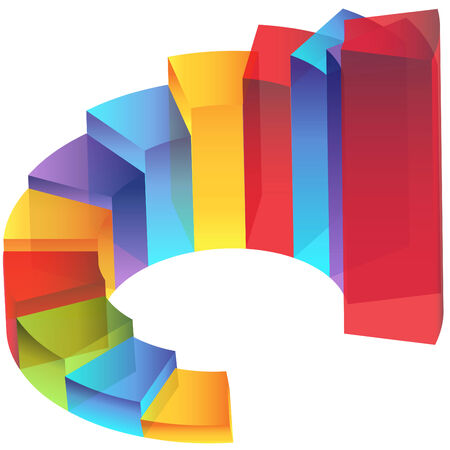An image of a transparency staircase step column chart.