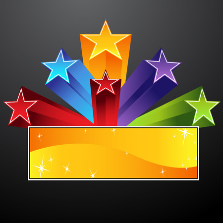 An image of a shooting star banner. Vector