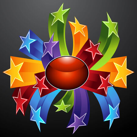 gold star: An image of a star explosion icon. Illustration