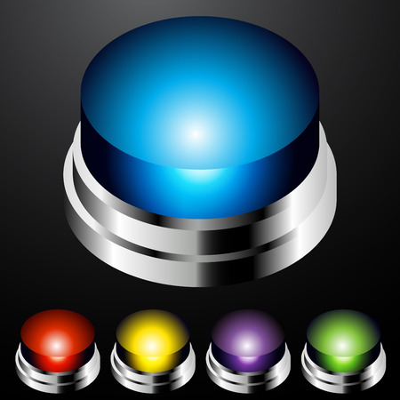 An image of a push button light set. Stock Vector - 7944342