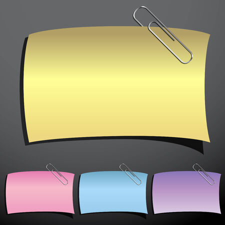 An image of a paperclip note set. Illustration