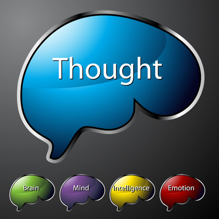 An image of thought buttons. Vector