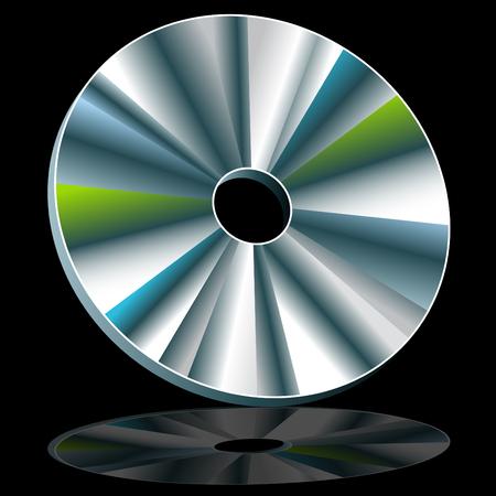 An image of a CD  DVD disc. Ilustração